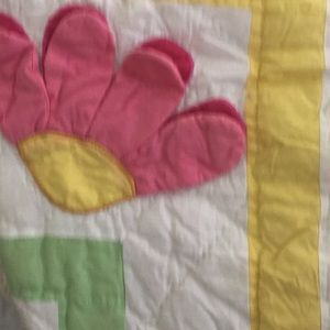 Girls quilted cotton bedcover, lg